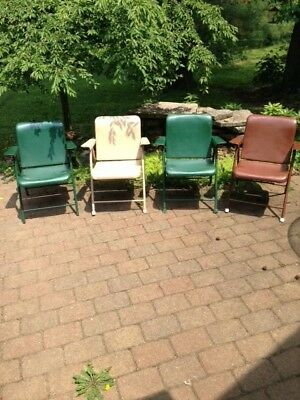 *RARE* Mid Century Samson folding arm chairs by Russel Wright