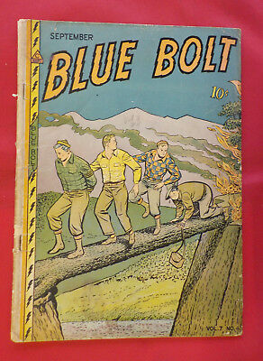 Blue Bolt #70 ! 1946 ! NICE PAGES ! STARRING BLUE BOLT ! hayfamzone