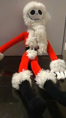 DISNEY Store Jack Skellington Santa Plush soft teddy Nightmare Before Christmas