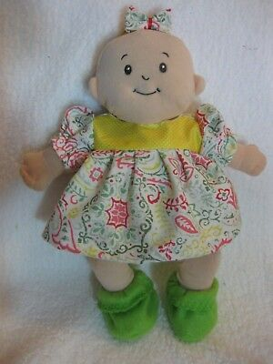 Baby Stella doll clothes/15 inch/handmade dress/diaper/booties/hair bow