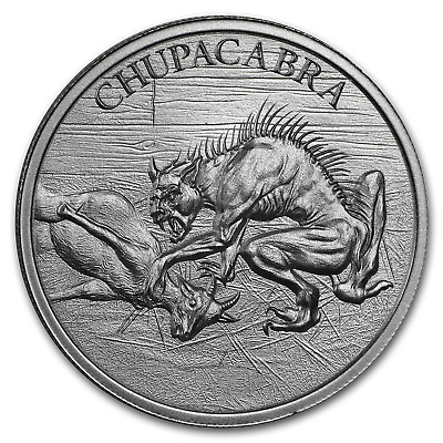 2 oz Silver High Relief Round - Chupacabra - SKU#177664