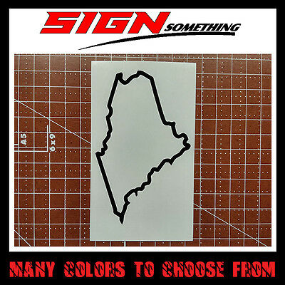 Maine State Outline Decal, Sticker
