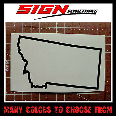 Montana State Outline Decal, Sticker