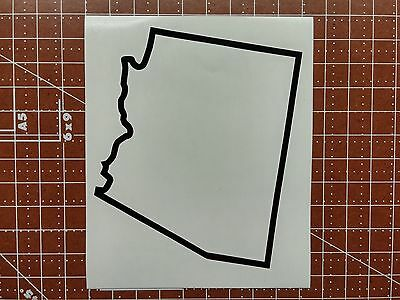 Arizona State Outline Decal, Sticker