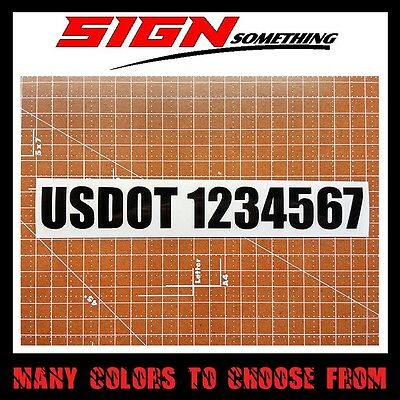 USDOT Number Decal / Sticker custom your