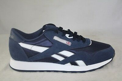 c3261e906c7a Men s Reebok Classic Nylon 39749 Team Navy platinum Comfort Sneakers.