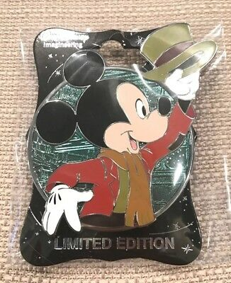 Disney Destination D 2018 D23 Profile Mickey's Christmas Carol Pin LE 300 New
