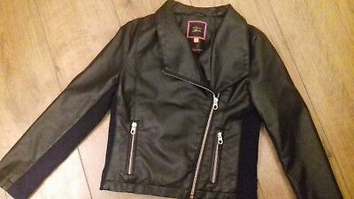 TED BAKER Girls Faux Leather Biker Style Jacket Age 9-10 Years