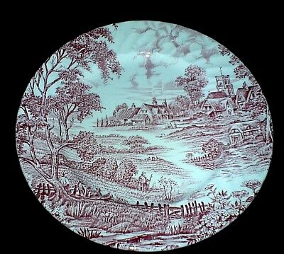 Ridgway Meadowsweet Ironstone 8 inch Red/Pink Plate x1 (3 available)