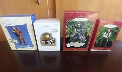 Hallmark Star Wars Christmas Ornaments - Lot of 4 - Older Collection