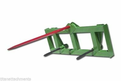 "Titan HD Global Euro 49"" Hay Spear & 2 Stabilizers fit John Deere Tractor Loader"