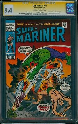 Sub-Mariner #34 Cgc 9.6 Nm+ 1971 Stan Lee Signature Ss Prelude To 1St Defenders