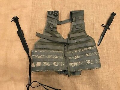 New Ontario M7 Bayonet Knife - Molle Tactical Vest - Combination Pack! (L1, L16)