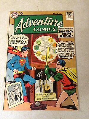 ADVENTURE #253 KEY ISSUE, 1ST MEETING SUPERBOY and ROBIN, 1958 KIRBY GREEN ARROW