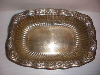 Antique Whiting Sterling Silver Bowl Vegetable Repousse 1566