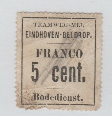 Netherlands Revenue Fiscal Cinderella Stamp 11-7-  Train- small faults- scarce