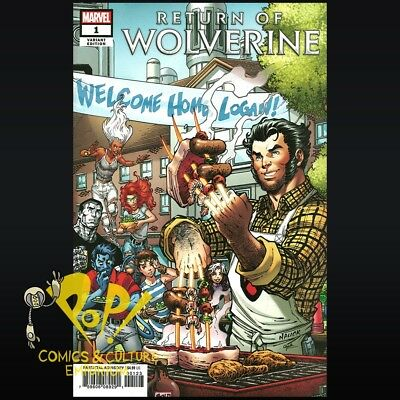 Return of Wolverine #1 TODD NAUCK Party VARIANT Marvel Legacy 1st Print NM- R256