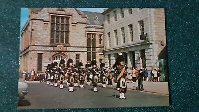 Strathbogie Pipe Band Huntly Square Aberdeenshire postcard