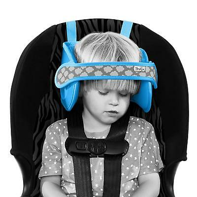 NapUp Child Car Seat Head and Neck Support - Comfort Safe Sleep Solution (Blue).
