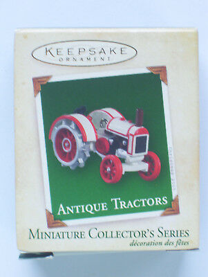 Antique-Tractors-Miniature-Collector-Series-Hallmark-Keepsake-Ornament-2005
