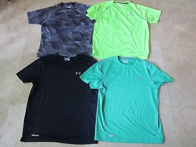 Lot, 4 mens size L,large Under Armour fitted t-shirts, tops, Run