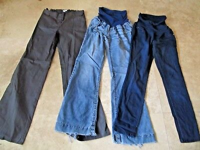 Lot, 3 size L,large Maternity pants, jeans, A Pea In The Pod, Wallflower