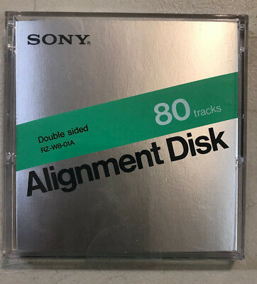 "ANALOG ALIGNMENT DISK By Sony RZ-W8-01A For 3 1/2"" 80 Track Disk Drive 3.5"" NEW"