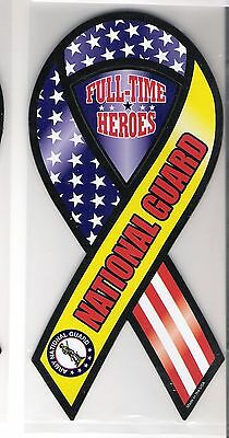National Guard Heroes 8 inch ribbon  magnet for car or anything metal     New