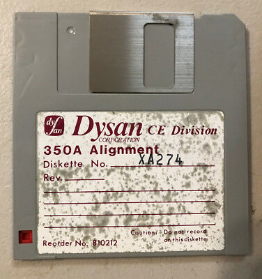 "Analog Alignment Disk By Dysan 350/2A For 3 1/2 80 Track Drive 3.5"" NEW(NOS)"