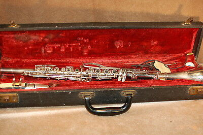 Oxford Metal silverplate Clarinet ~vintage with case~