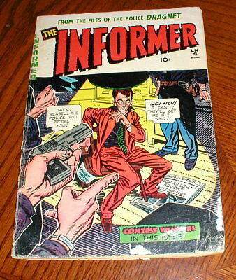 Sterling Comics The informer #5  1954 pre-code crime golden age