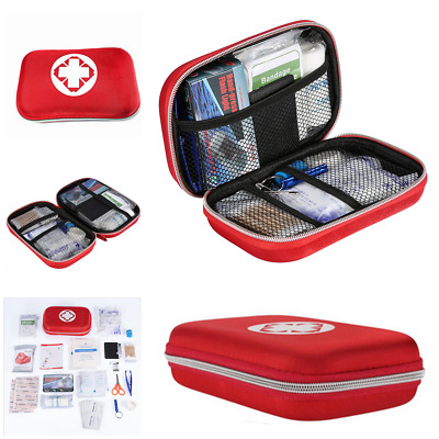18 Pcs First Aid Kit Emergency Medical Bag Home Car Outdoor Hiking Survival Red