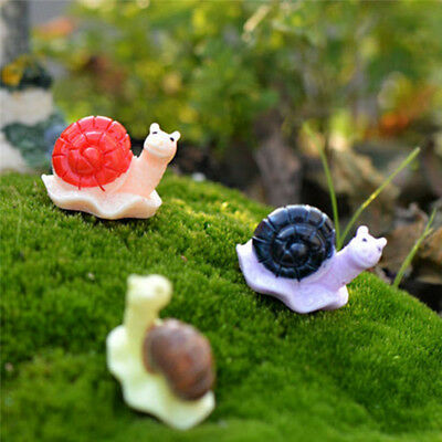 4 Pcs Miniature Dollhouse Bonsai DIY Craft Fairy Garden Glass Vase Snail Decor