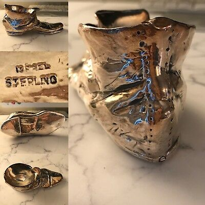 Rare Vintage Sterling Silver Israel Shoe Ashtray ?