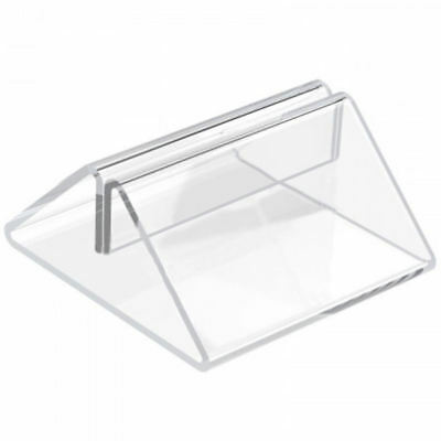 BarBits Clear Plastic Menu Holder - Slotted Table Card Holder Tent Type Display