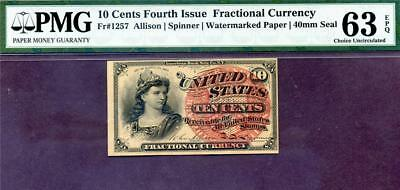 HGR FRIDAY 4th Issue 10c FRACTIONAL ((BEAUTIFUL)) PMG CHOICE UNC 63EPQ