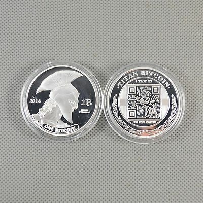 Silver Plated Commemorative Bitcoin Collectible Iron Miner Coin Gift XN16