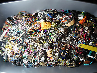 vintage/now STRETCH/LINK,CHARM  BRACELET LOTS lbs wear,repair Regional A BOX