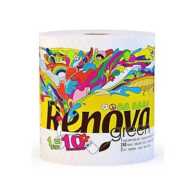 Renovagreen 100% Recycled Paper Towel Gigaroll Single