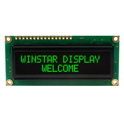 Winstar WEH001602A-G 16x2 OLED Display, Green 80x36x10mm