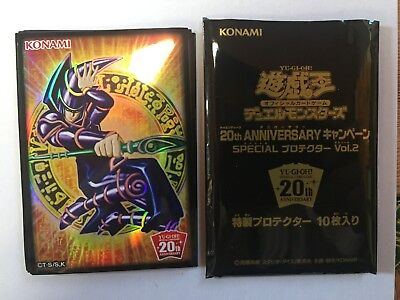 Yugioh Card Sleeve Protector : Dark Magician / 10pcs / 20th Aniversary