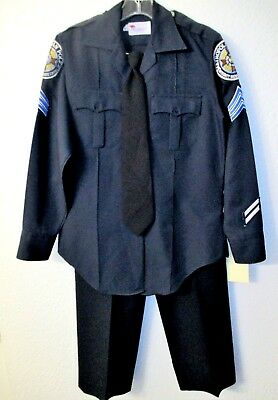 Police Academy Hooks Police Woman Movie Costume Shirt Pants Tie Wardrobe