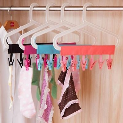 Bathroom Rack Portable Travel Cloth Hanger Foldable Clothes Clips Bathroom Rack