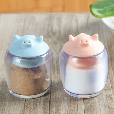 Cartoon Pig Shape Salt Pepper Vinegar Seasoning Pot Cruet Shaker 8C