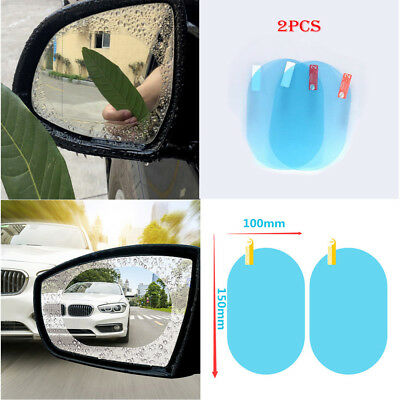 Car Rearview Mirror Anti Water Mist Film Anti Fog Rainproof Protect Film Sticker