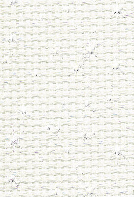 14 ct Iridescent WHITE AIDA -55 cm x 8 cm  from DMC for cross stitch ROLL END
