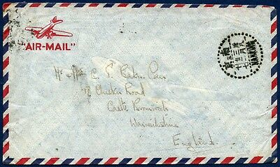 """China 1940s """"Air-Mail"""" Cover used Nanking to England"""