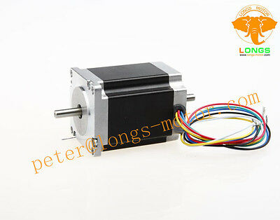 1PC Stepper Motor Nema23 290 oz.in bipolar 1A 76mm 6 -leads dual shaft 23HS8610B