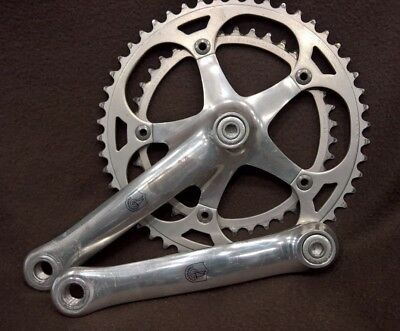 1990 Campagnolo Chorus C-Record era crankset - 50/39 teeth - length 170
