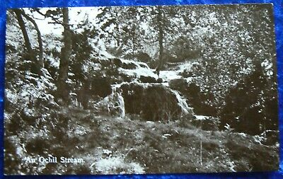 """Andrew GardinerPostcard showing a view of""""An OchilStream""""posted 1953"""